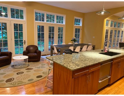 North Falmouth Cape Cod vacation rental - Kitchen and sitting area