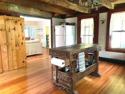Brewster Cape Cod vacation rental - Kitchen looking into living room