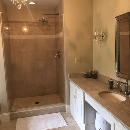 Osterville Cape Cod vacation rental - Master Bath with walk-in shower and jacuzzi tub