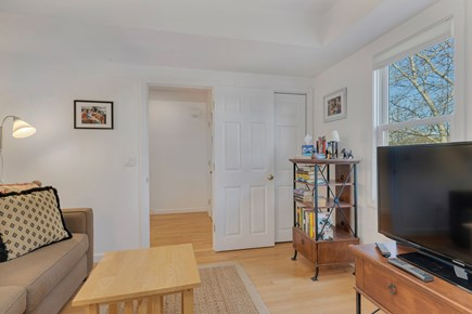 Provincetown Cape Cod vacation rental - 2nd floor TV room with full size pull out sofabed