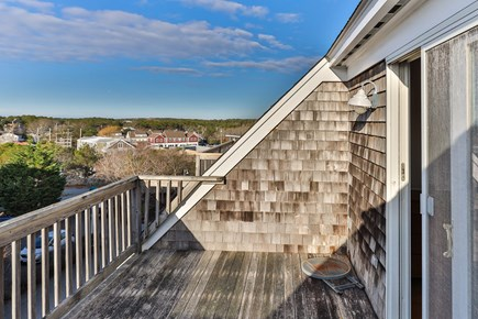 Provincetown Cape Cod vacation rental - 3rd floor deck with water and town views