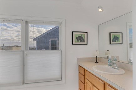 Provincetown Cape Cod vacation rental - 3rd floor full bath with views of harbor, monument and town