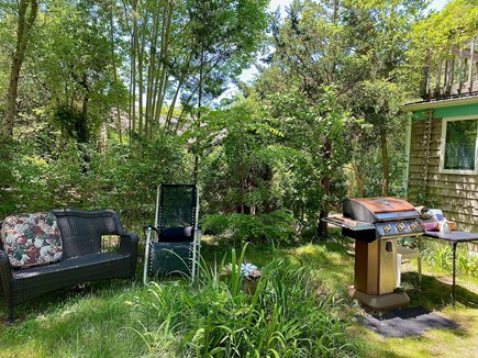 Provincetown Cape Cod vacation rental - Front yard with grill and varied seating