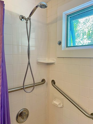 Provincetown Cape Cod vacation rental - Shower, with handrails.