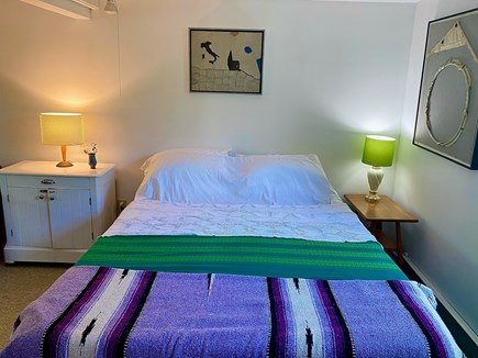 Provincetown Cape Cod vacation rental - Queen bed, lighting, plenty of outlets, great Wifi, optional TV.