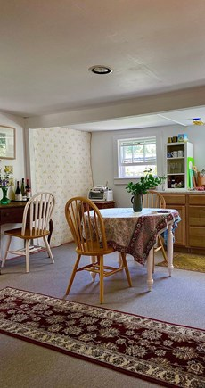 Provincetown Cape Cod vacation rental - Drop-leaf table, desk. Move table for open floor, yoga space.