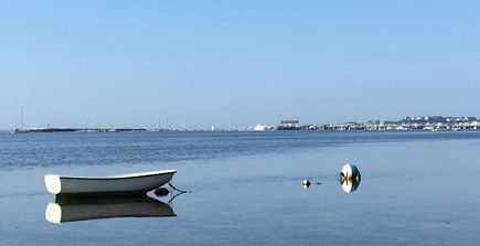 Provincetown Cape Cod vacation rental - Town harbor from local beach.