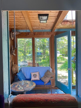 Provincetown Cape Cod vacation rental - Sunroom seen from dual closet nook, optional blinds to separate.