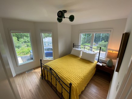 Woods Hole Cape Cod vacation rental - Bedroom 4, with queen bed adjacent to bathroom with stall shower.