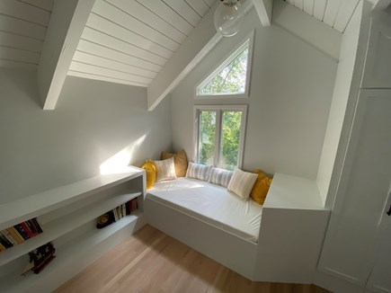 Woods Hole Cape Cod vacation rental - Window seat / day bed in master suite, twin-size mattress.