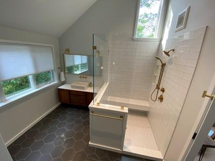 Woods Hole Cape Cod vacation rental - Master bathroom adjacent to sitting room.