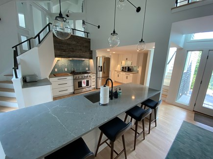 Woods Hole Cape Cod vacation rental - Kitchen with bar seating for four.