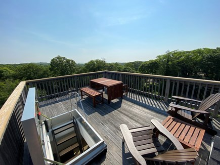 Woods Hole Cape Cod vacation rental - Roof deck with water & Vineyard views.