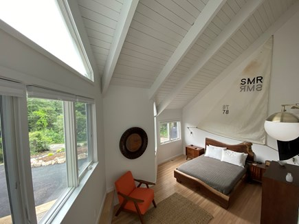 Woods Hole Cape Cod vacation rental - Bedroom 1 with queen bed, en suite with tub/shower.
