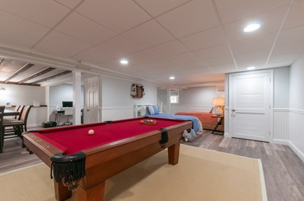 West Barnstable Cape Cod vacation rental - Lower level pool table and Bedroom area