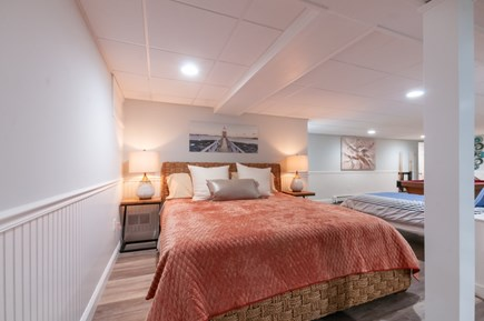 West Barnstable Cape Cod vacation rental - Lower level Bedroom area with King & Twin