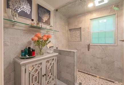 West Barnstable Cape Cod vacation rental - Walk-in shower in En Suite Bath