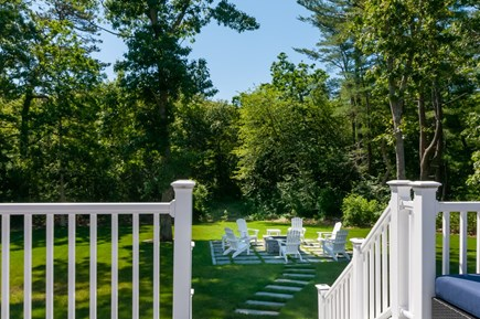 West Barnstable Cape Cod vacation rental - Deck steps down to private back yard
