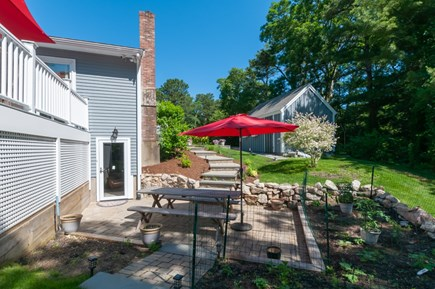 West Barnstable Cape Cod vacation rental - Patio off the lower level living area