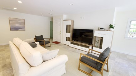Wellfleet Cape Cod vacation rental - Living room with comfortable seating and flat screen TV