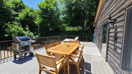 Wellfleet Cape Cod vacation rental - Beautiful deck with outdoor furniture and gas grill