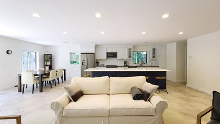 Wellfleet Cape Cod vacation rental - Living room is open to kitchen and dining area