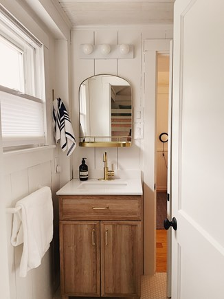 provincetown Cape Cod vacation rental - Modern bathroom with standing shower