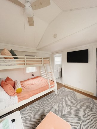 provincetown Cape Cod vacation rental - Second bedroom with twin-over full bunk w/comfy foam mattresses