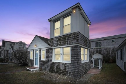 provincetown Cape Cod vacation rental - Exterior shot with a lovely sunset. ocean views from lookout