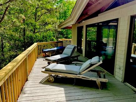 North Truro Cape Cod vacation rental - Upper deck, lounge area