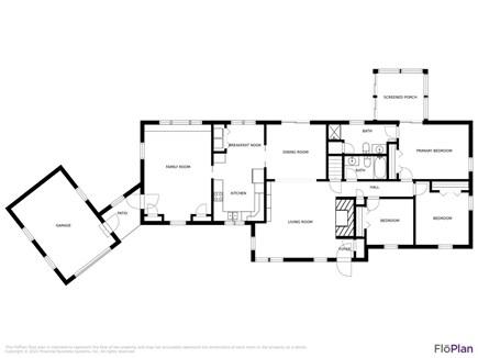 Brewster Cape Cod vacation rental - Full floor plan.