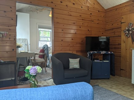 Dennisport Cape Cod vacation rental - Living area, TV with cable