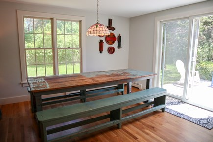 Orleans Cape Cod vacation rental - Indoor picnic table is your dining room!