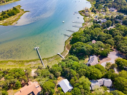 Eastham Cape Cod vacation rental - Spectacular location on Town Cove.  Note the dock.