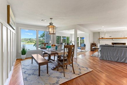 Eastham Cape Cod vacation rental - Even when you dine inside, you have a water view.