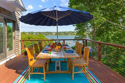 Eastham Cape Cod vacation rental - Dine al fresco with a water view.