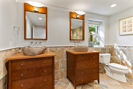 Eastham Cape Cod vacation rental - Master suite his and hers vanities.