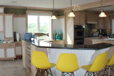 Sandwich Cape Cod vacation rental - Kitchen on the main living floor with views all around.