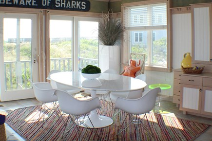 Sandwich Cape Cod vacation rental - Dining inside with a water view