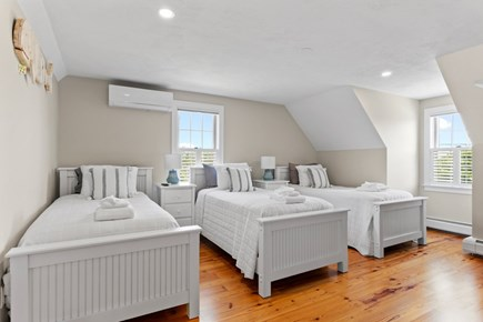 Dennis Cape Cod vacation rental - Upstairs bedroom with 3 twin beds