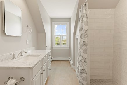 Dennis Cape Cod vacation rental - Shared bath upstairs with step in shower