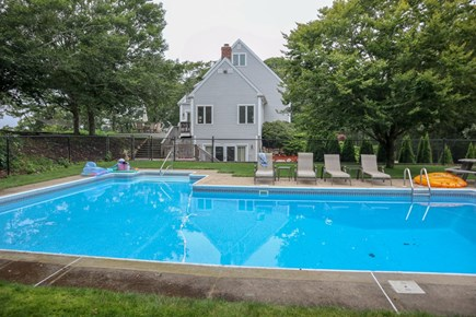 Brewster Cape Cod vacation rental - Big heated in-ground pool plus tennis court