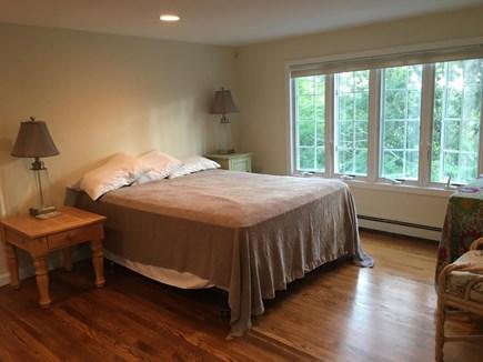 Wellfleet Cape Cod vacation rental - Queen bedroom upstairs with window AC unit