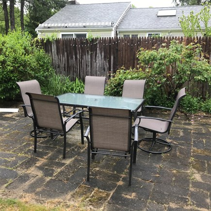 Yarmouth Cape Cod vacation rental - Seating for 6 at our outdoor patio set