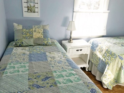 Yarmouth Cape Cod vacation rental - Cozy 3rd bedroom twin beds window air conditioner and ceiling fan