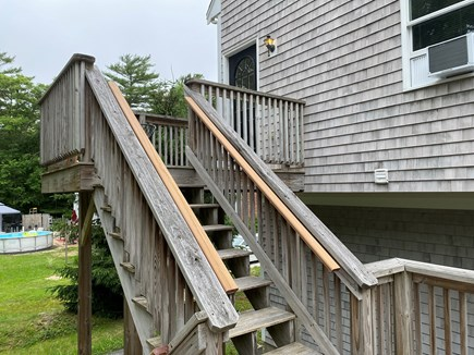 Mashpee Cape Cod vacation rental - Side entrance stairs to the apartment.