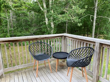 Mashpee Cape Cod vacation rental - Sitting area on deck.