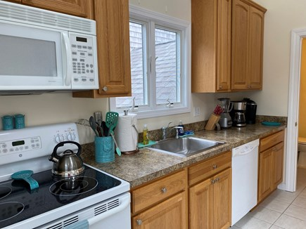Mashpee Cape Cod vacation rental - Kitchen with dishwasher and microwave