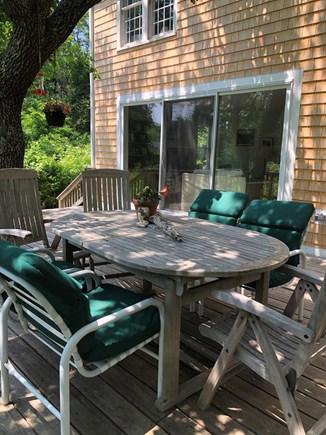Dennis Village Cape Cod vacation rental - Large Deck off back