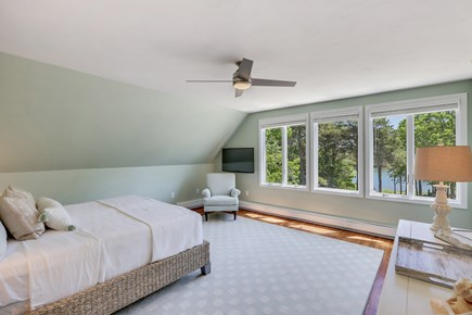 West Dennis Cape Cod vacation rental - King Bed Master Bedroom with Cove Views!